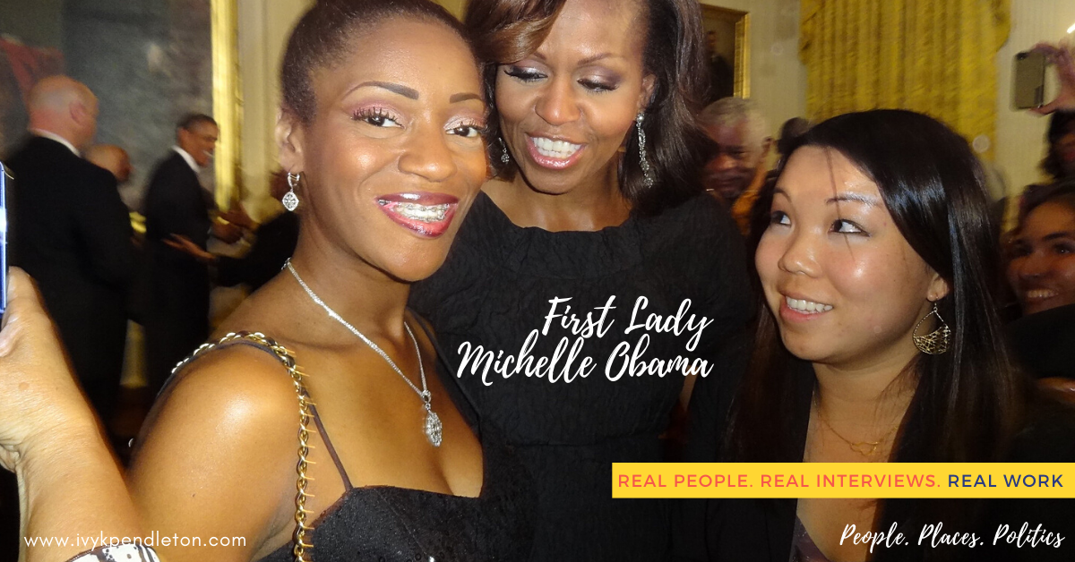 Ivy Pendleton and Michelle Obama White House